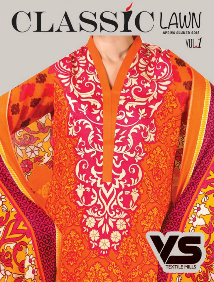 VS Textile Mills Vadiwala Lawn Embroidered Chiffon Collection 2015 (11)