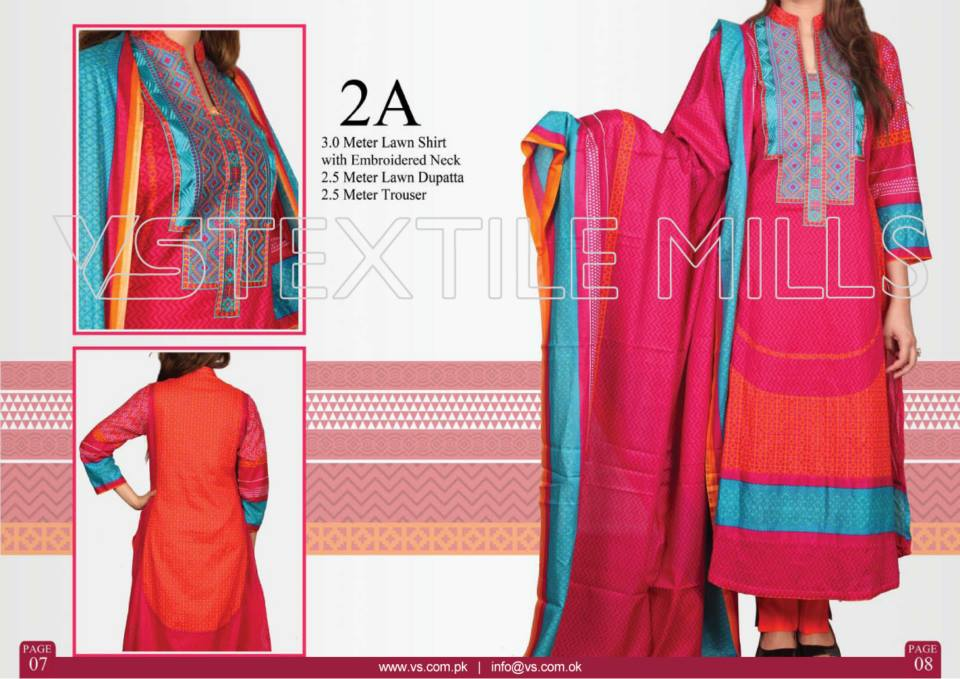 VS Textile Mills Vadiwala Lawn Embroidered Chiffon Collection 2015 (12)