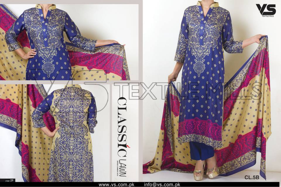 VS Textile Mills Vadiwala Lawn Embroidered Chiffon Collection 2015 (13)