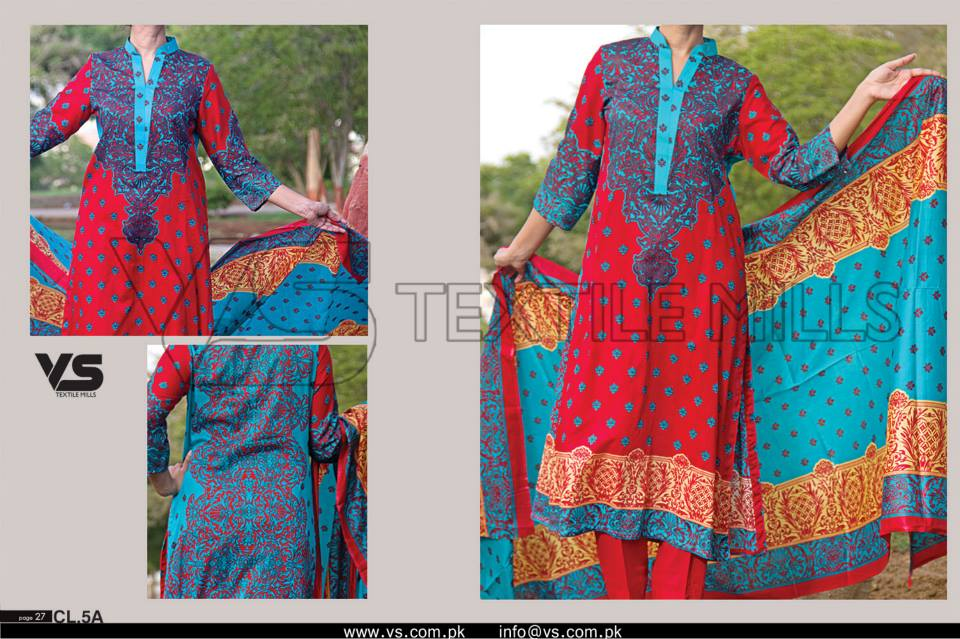 VS Textile Mills Vadiwala Lawn Embroidered Chiffon Collection 2015 (14)