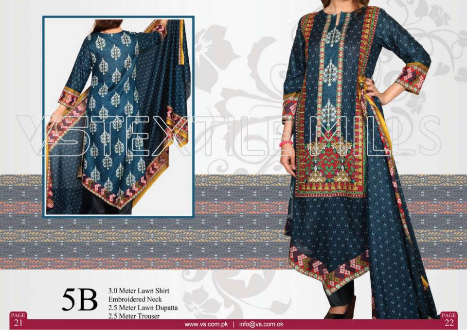 VS Textile Mills Vadiwala Lawn Embroidered Chiffon Collection 2015 (15)