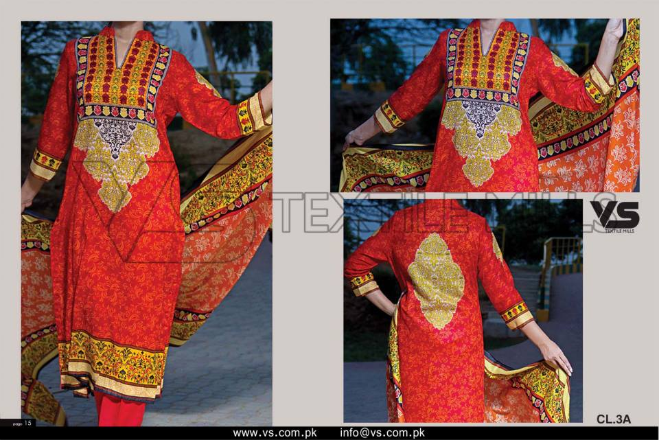 VS Textile Mills Vadiwala Lawn Embroidered Chiffon Collection 2015 (16)