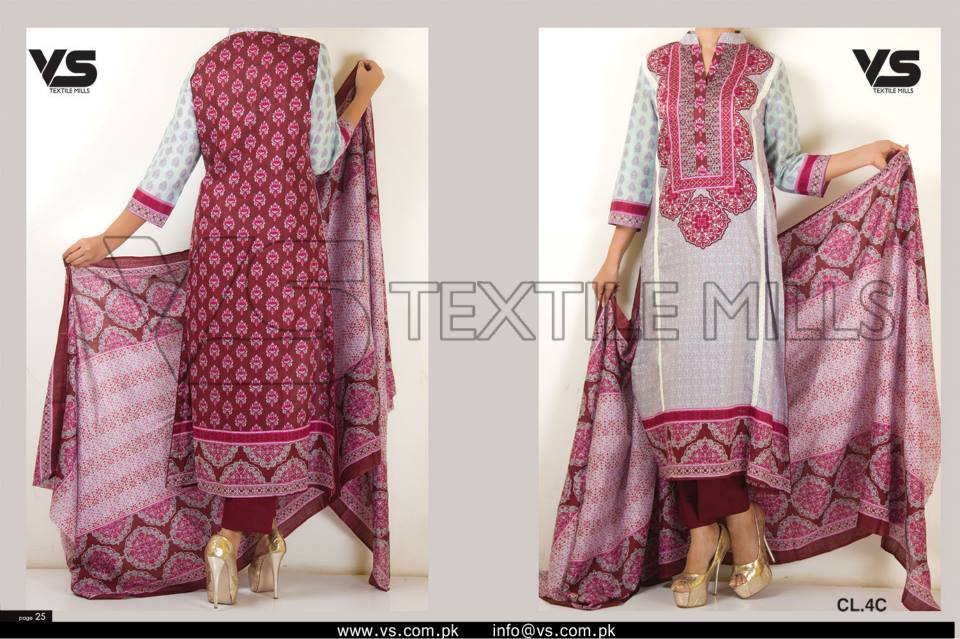 VS Textile Mills Vadiwala Lawn Embroidered Chiffon Collection 2015 (17)