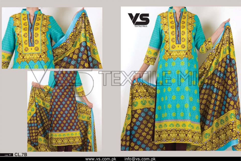 VS Textile Mills Vadiwala Lawn Embroidered Chiffon Collection 2015 (18)