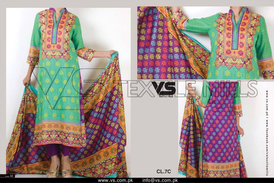 VS Textile Mills Vadiwala Lawn Embroidered Chiffon Collection 2015 (19)
