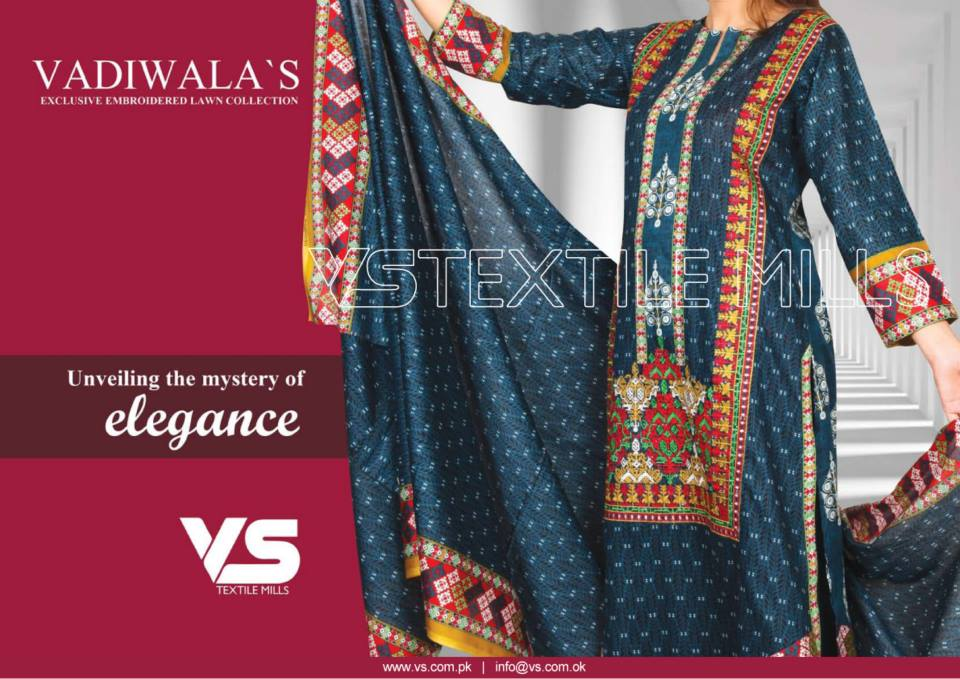 VS Textile Mills Vadiwala Lawn Embroidered Chiffon Collection 2015 (21)