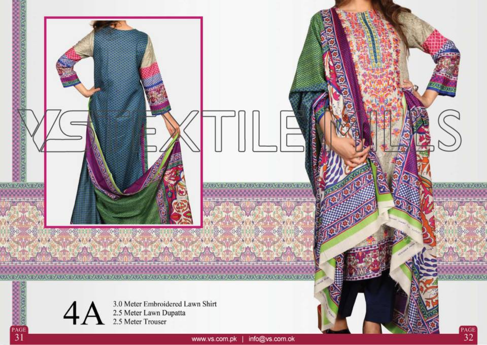 VS Textile Mills Vadiwala Lawn Embroidered Chiffon Collection 2015 (22)