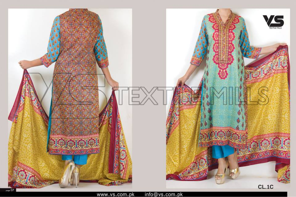 VS Textile Mills Vadiwala Lawn Embroidered Chiffon Collection 2015 (23)