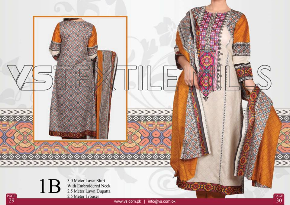 VS Textile Mills Vadiwala Lawn Embroidered Chiffon Collection 2015 (24)