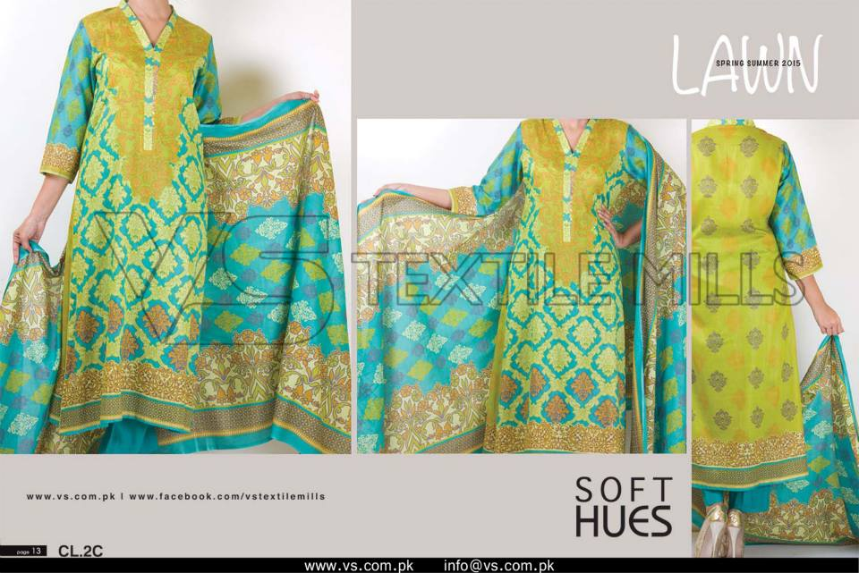 VS Textile Mills Vadiwala Lawn Embroidered Chiffon Collection 2015 (25)