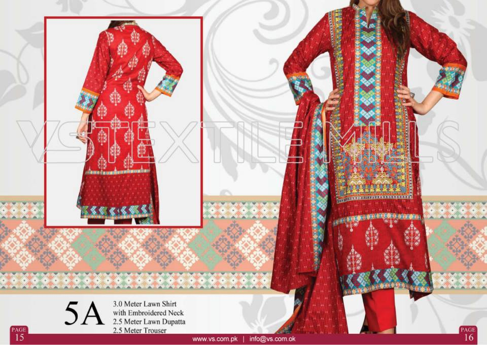 VS Textile Mills Vadiwala Lawn Embroidered Chiffon Collection 2015 (26)