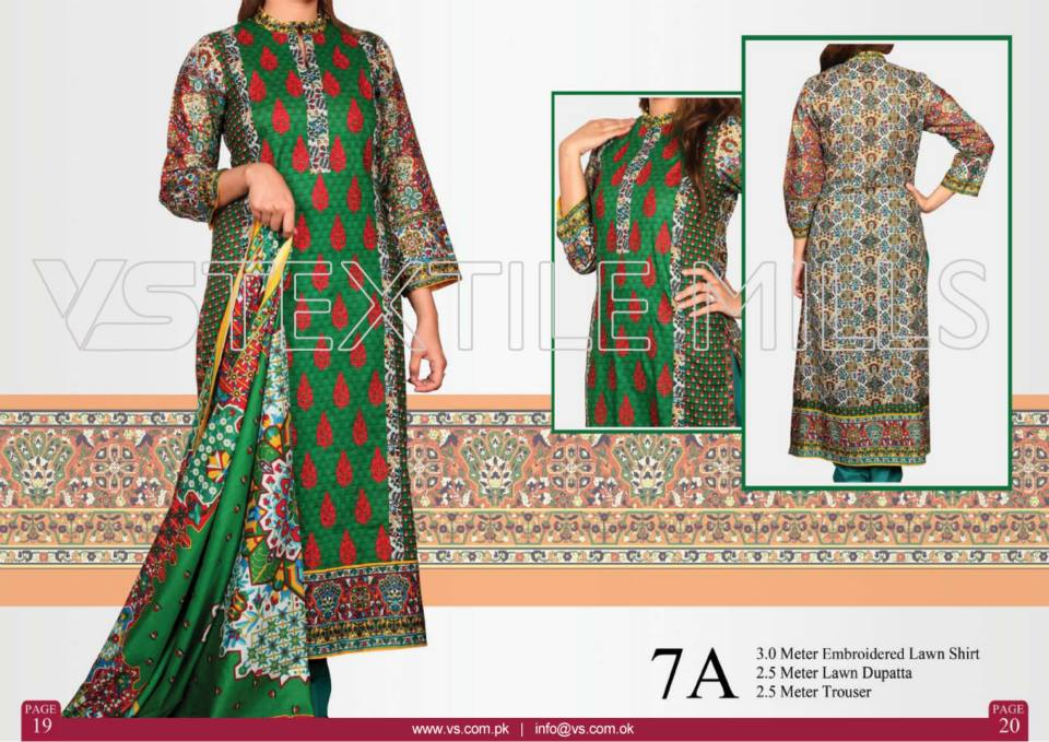 VS Textile Mills Vadiwala Lawn Embroidered Chiffon Collection 2015 (27)
