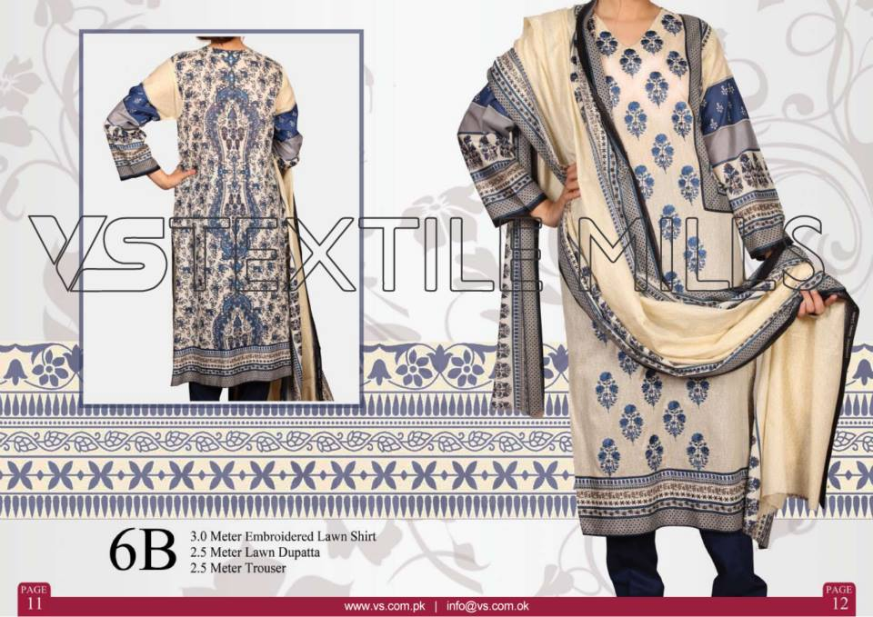 VS Textile Mills Vadiwala Lawn Embroidered Chiffon Collection 2015 (29)