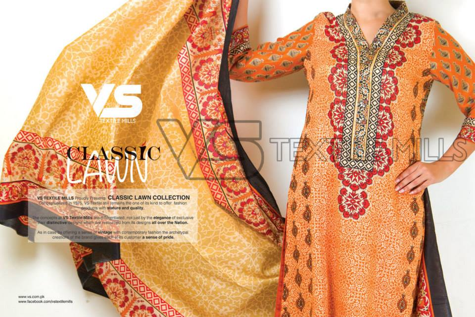 VS Textile Mills Vadiwala Lawn Embroidered Chiffon Collection 2015 (3)