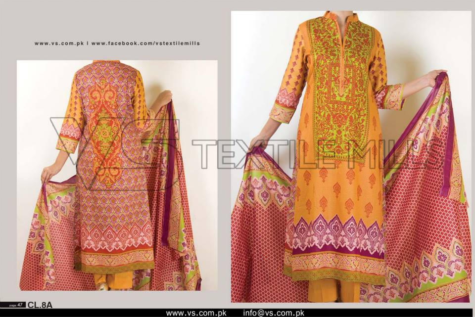 VS Textile Mills Vadiwala Lawn Embroidered Chiffon Collection 2015 (30)