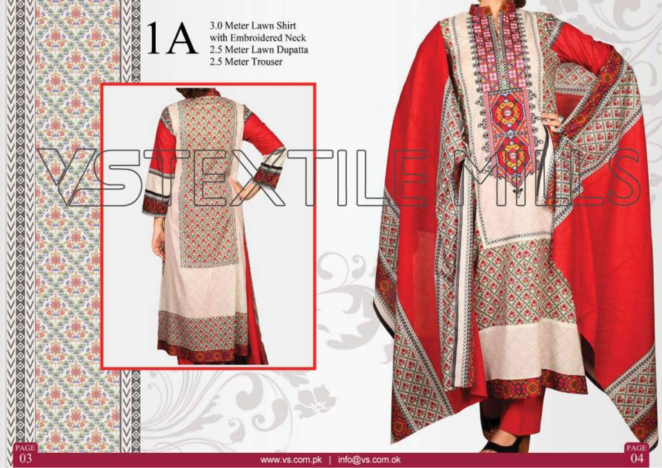 VS Textile Mills Vadiwala Lawn Embroidered Chiffon Collection 2015 (31)