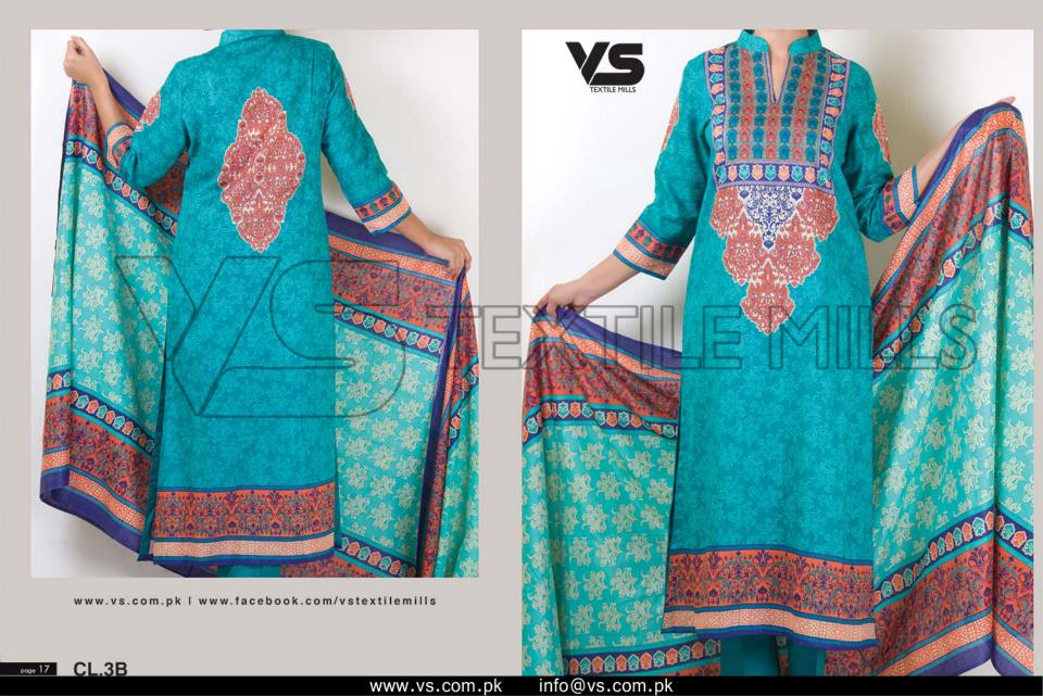 VS Textile Mills Vadiwala Lawn Embroidered Chiffon Collection 2015 (32)