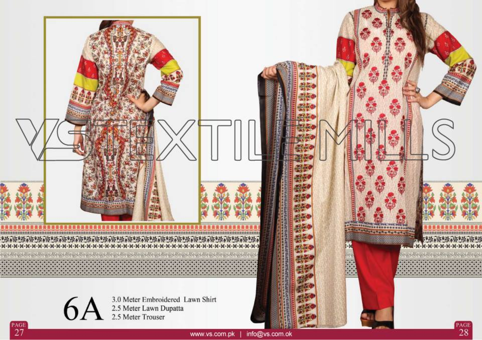 VS Textile Mills Vadiwala Lawn Embroidered Chiffon Collection 2015 (34)