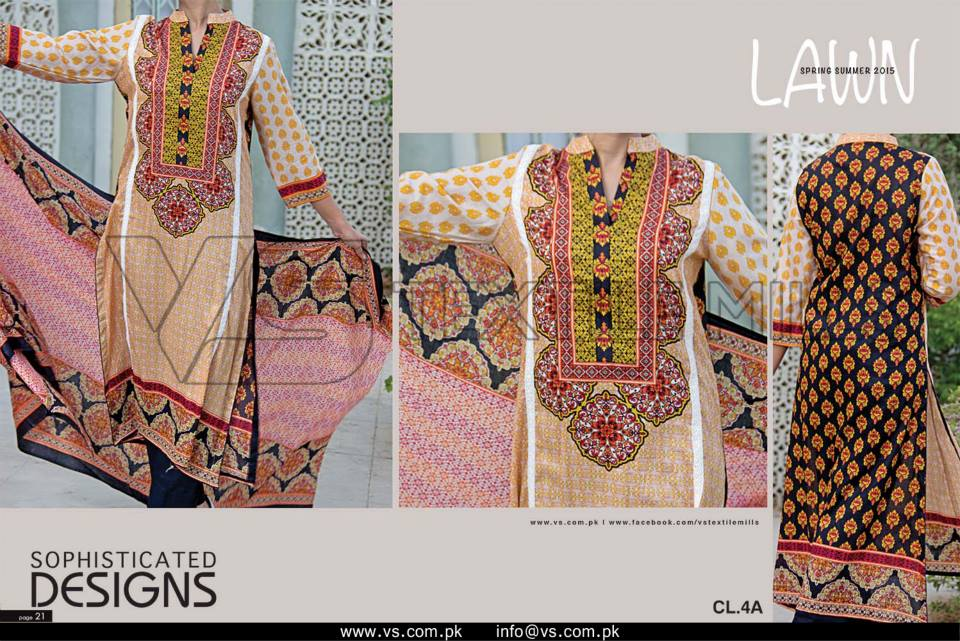 VS Textile Mills Vadiwala Lawn Embroidered Chiffon Collection 2015 (37)