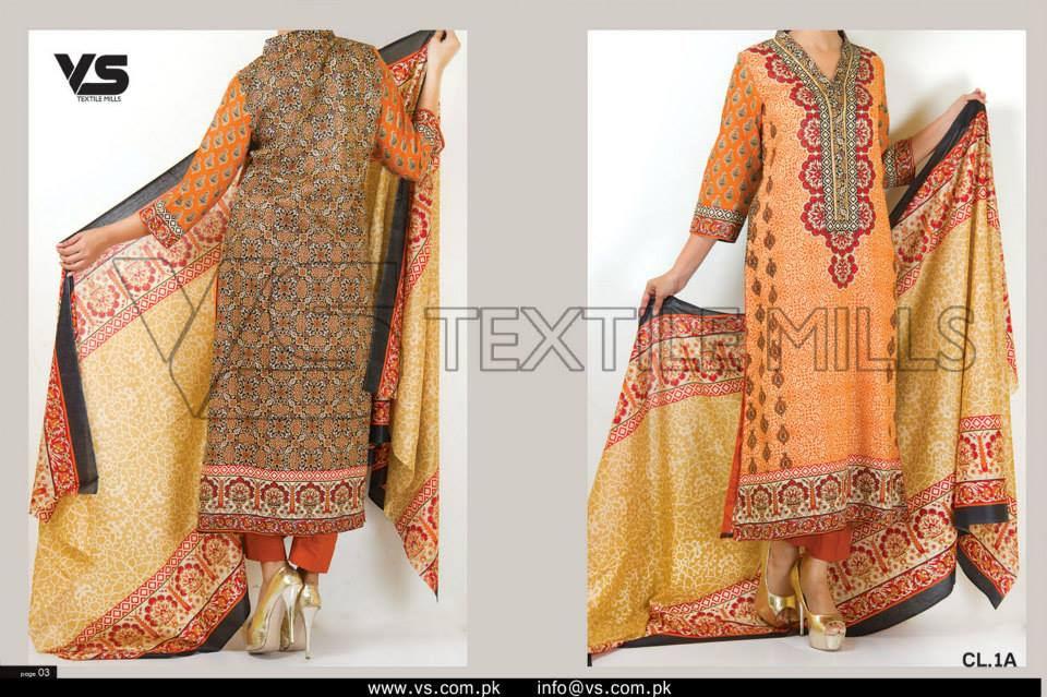 VS Textile Mills Vadiwala Lawn Embroidered Chiffon Collection 2015 (7)