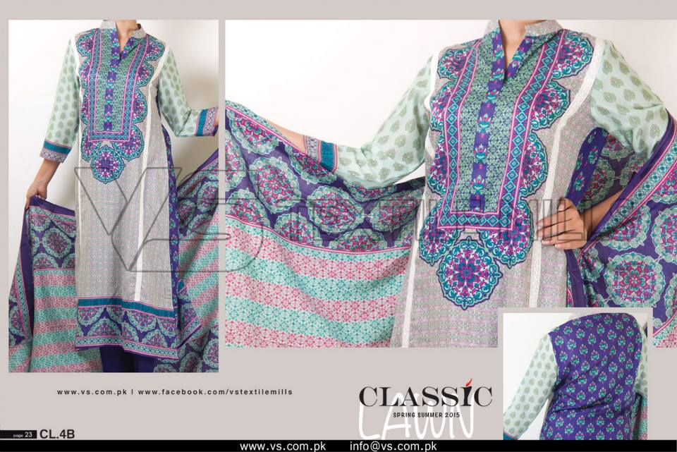 VS Textile Mills Vadiwala Lawn Embroidered Chiffon Collection 2015 (8)