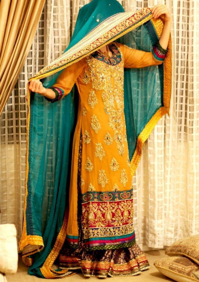 mehndi dresses 2015-2016
