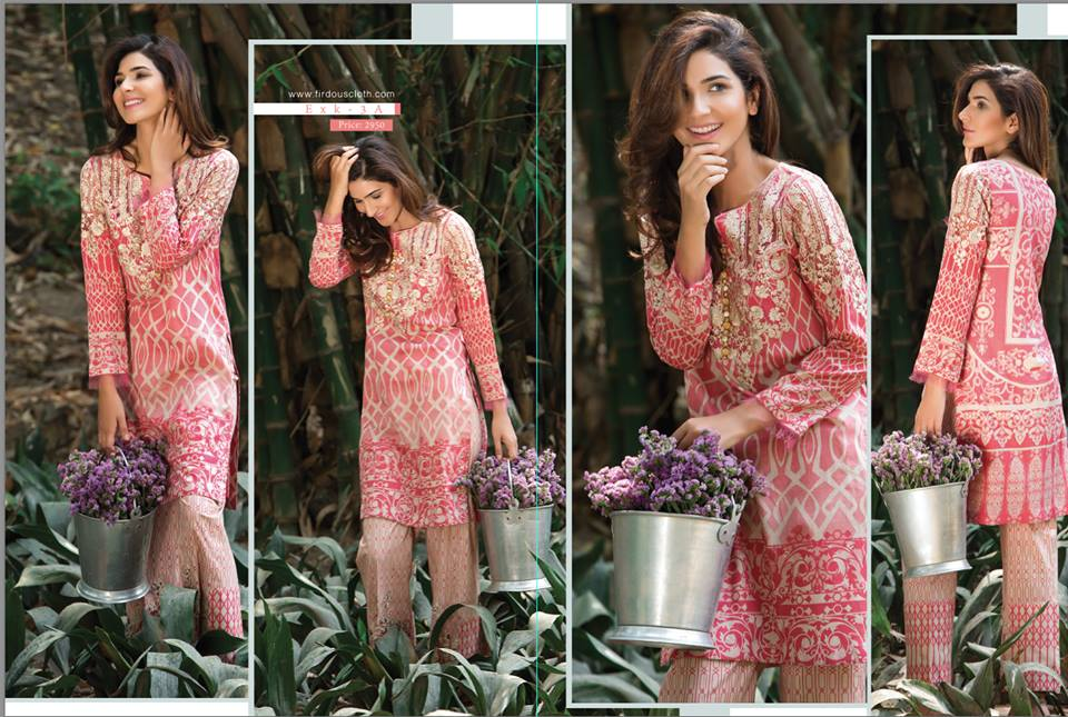 Firdous Lawn Eid Fancy Embroidered Dresses Collection 2016-2017 (2)