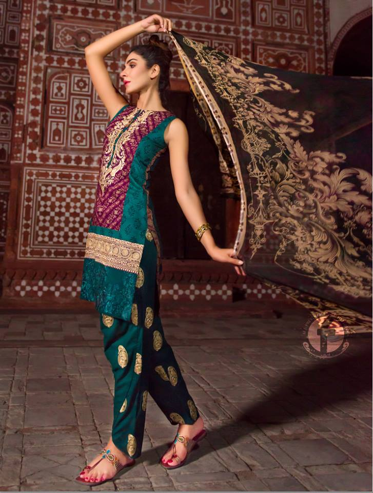 Firdous Lawn Eid Fancy Embroidered Dresses Collection 2016-2017  (20)