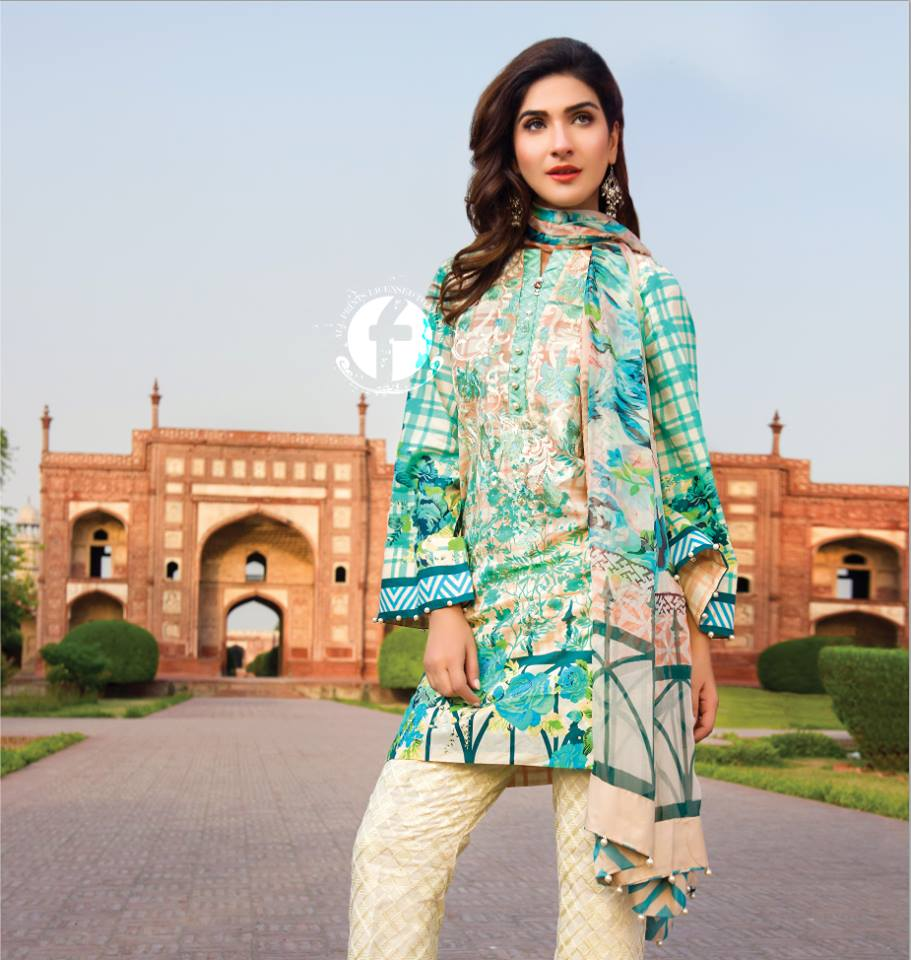 Firdous Lawn Eid Fancy Embroidered Dresses Collection 2016-2017  (21)