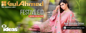 Gul Ahmad Festive Eid Collection 2016- Lawn, Silk & Chiffon Dresses