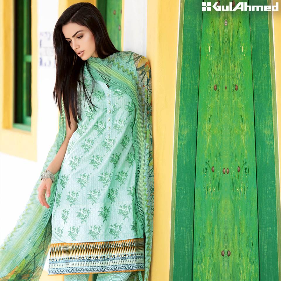 dcb33a49c1 Gul Ahmed Festive Eid Collection 2016-2017 -Lawn, Silk & Chiffon Dresses  (26)
