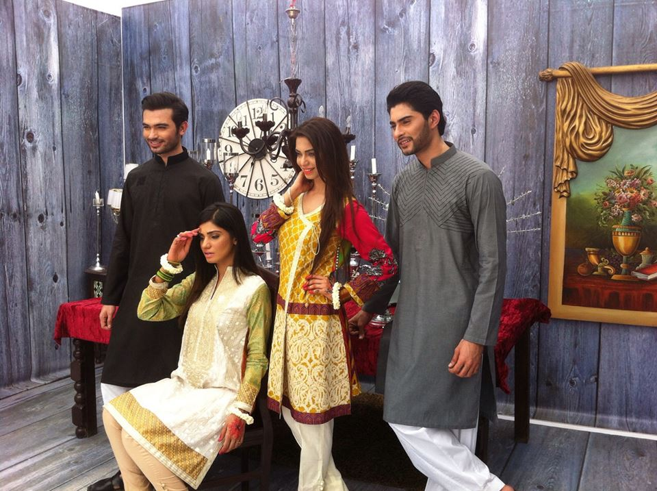 House of Ittehad Izbell Eid Dresses Collection 2015-2016 (3)