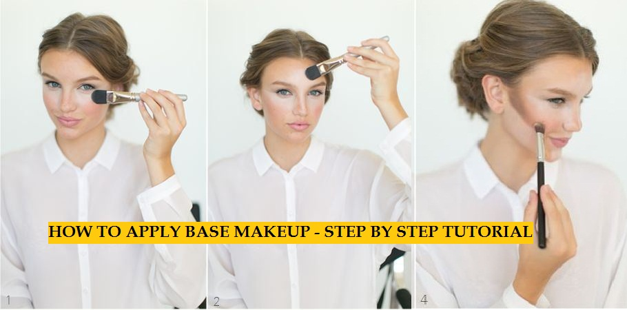 How-To-Apply-Base-Makeup-Tutorial step by step