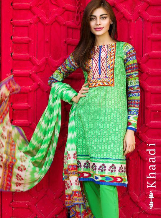 b07afca40 Khaadi Lawn Eid Dresses Collection 2015-16 for women Catalog (12 ...