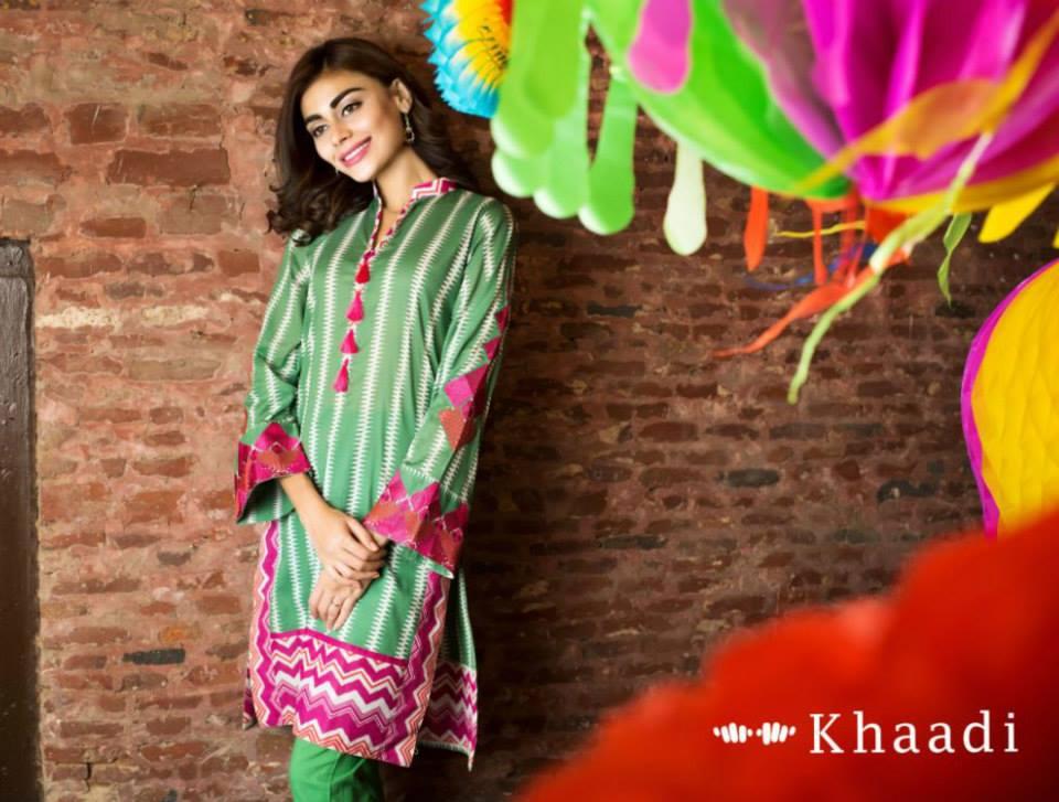 af769d141 Khaadi Lawn Eid Dresses Collection 2015-16 for women Catalog (31 ...
