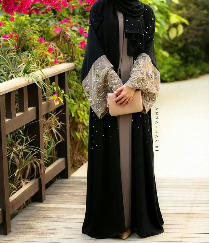 Latest Dubai Designer Abaya Gowns Designs Collection 2015-16 (1)