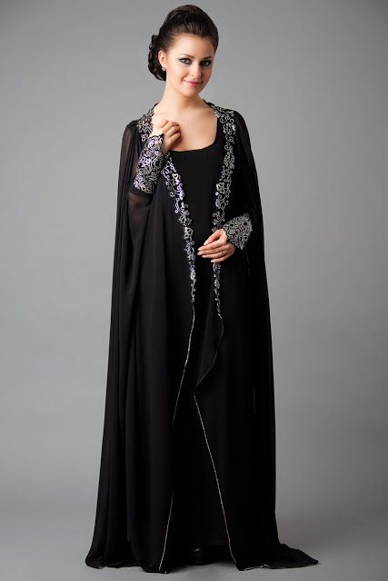 Latest Black Plain Abaya Designs Collection 2015-16