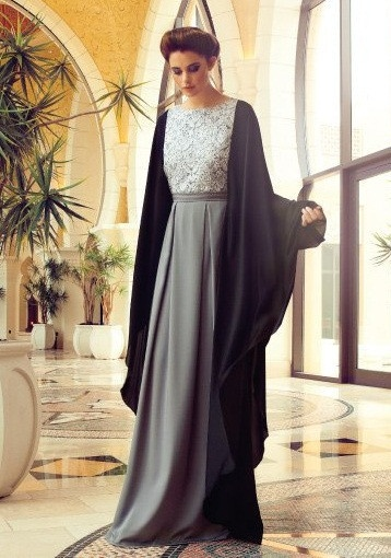 Latest Dubai Designer Abaya Gowns Designs Collection 2015-16 (2)