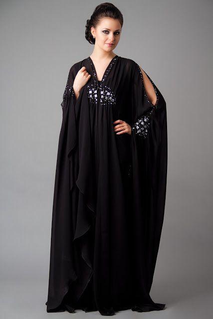 Latest Dubai Designer Abaya Gowns Designs Collection 2015-16 (3)