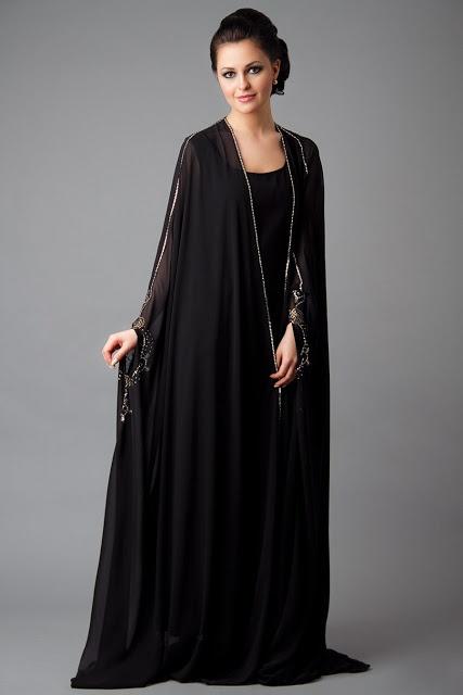Latest Dubai Designer Abaya Gowns Designs Collection 2015-16 (4)