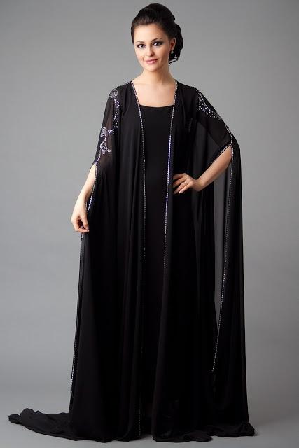 Latest Dubai Designer Abaya Gowns Designs Collection 2015-16 (7)