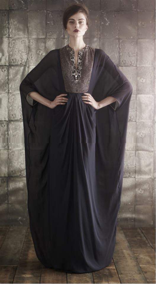 Latest Dubai Designer Abaya Gowns Designs Collection 2015-16 (9)