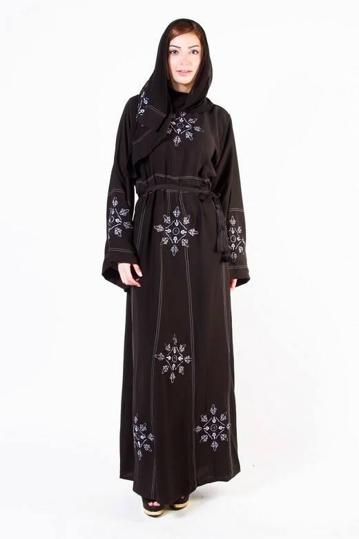 Latest Dubai Designer Abaya Gowns Designs Collection 2015-2016 (1)