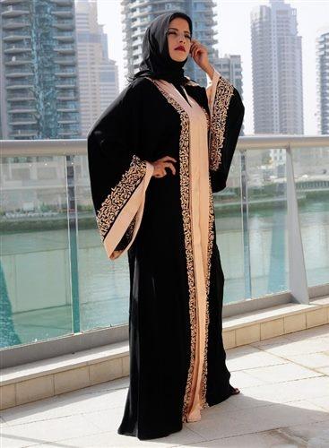 Latest Dubai Designer Abaya Gowns Designs Collection 2015-2016 (11)
