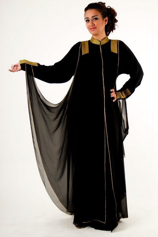 Latest Black Plain Abaya Designs Collection 2015 16
