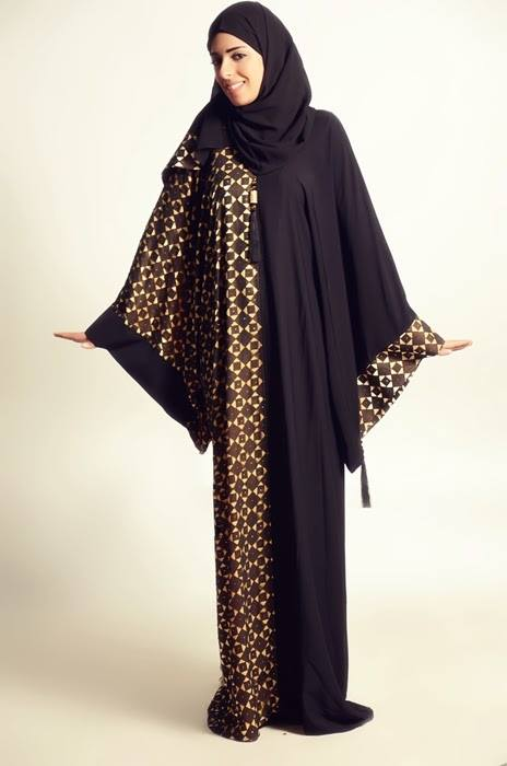 Latest Dubai Designer Abaya Gowns Designs Collection 2015-2016 (2)