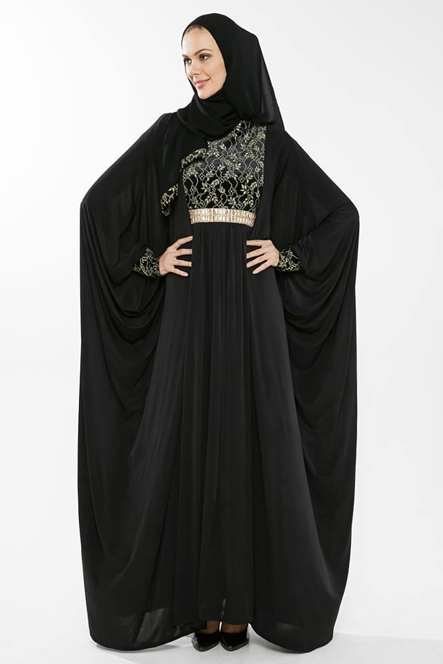 Latest Dubai Designer Abaya Gowns Designs Collection 2015-2016 (20)