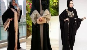 Latest Black Plain Abaya-Gown Designs Collection for Women