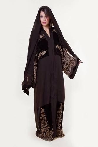 Latest Dubai Designer Abaya Gowns Designs Collection 2015-2016 (5)