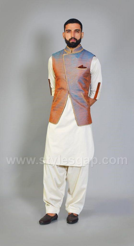 a2706d0f3e Latest Men Mehndi Dresses Kurta Shalwar Kameez Designs 2017-18 ...